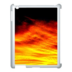 Black Yellow Red Sunset Apple Ipad 3/4 Case (white) by Costasonlineshop