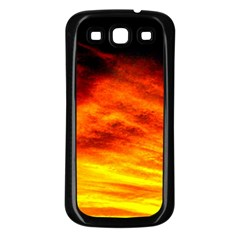 Black Yellow Red Sunset Samsung Galaxy S3 Back Case (black) by Costasonlineshop