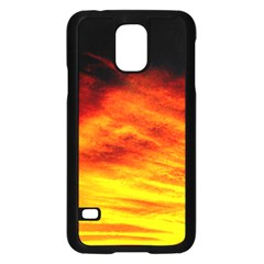 Black Yellow Red Sunset Samsung Galaxy S5 Case (black) by Costasonlineshop