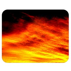 Black Yellow Red Sunset Double Sided Flano Blanket (medium)  by Costasonlineshop