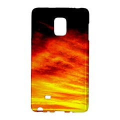 Black Yellow Red Sunset Galaxy Note Edge by Costasonlineshop