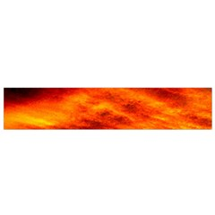 Black Yellow Red Sunset Flano Scarf (small)