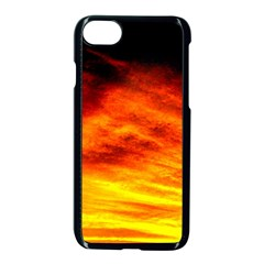 Black Yellow Red Sunset Apple Iphone 7 Seamless Case (black) by Costasonlineshop