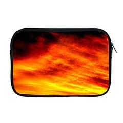 Black Yellow Red Sunset Apple Macbook Pro 17  Zipper Case by Costasonlineshop