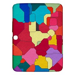 Colorful Leather Pieces       Samsung Galaxy Tab 3 (8 ) T3100 Hardshell Case by LalyLauraFLM
