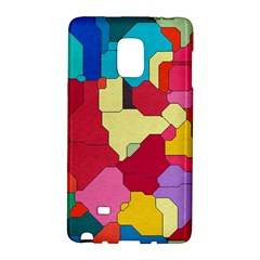 Colorful Leather Pieces       Samsung Galaxy Note 4 Leather Folio by LalyLauraFLM