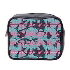 Cracked Tiles             Mini Toiletries Bag (two Sides) by LalyLauraFLM