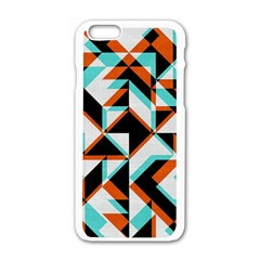 4 Colors Shapes    Motorola Moto E Hardshell Case by LalyLauraFLM