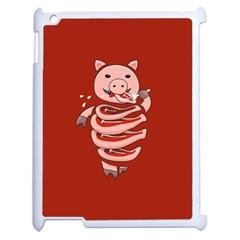 Red Stupid Self Eating Gluttonous Pig Apple Ipad 2 Case (white) by CreaturesStore