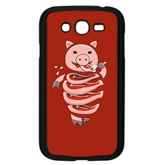 Red Stupid Self Eating Gluttonous Pig Samsung Galaxy Grand Duos I9082 Case (black) by CreaturesStore