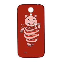 Red Stupid Self Eating Gluttonous Pig Samsung Galaxy S4 I9500/i9505  Hardshell Back Case by CreaturesStore