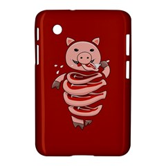 Red Stupid Self Eating Gluttonous Pig Samsung Galaxy Tab 2 (7 ) P3100 Hardshell Case  by CreaturesStore