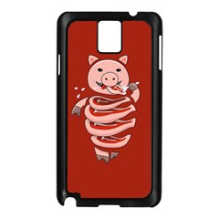 Red Stupid Self Eating Gluttonous Pig Samsung Galaxy Note 3 N9005 Case (black) by CreaturesStore