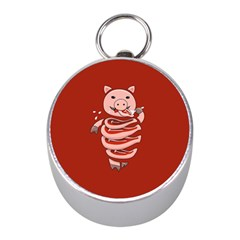 Red Stupid Self Eating Gluttonous Pig Mini Silver Compasses by CreaturesStore