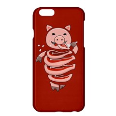 Red Stupid Self Eating Gluttonous Pig Apple Iphone 6 Plus/6s Plus Hardshell Case by CreaturesStore
