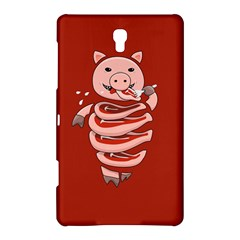 Red Stupid Self Eating Gluttonous Pig Samsung Galaxy Tab S (8 4 ) Hardshell Case  by CreaturesStore
