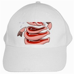 Stupid Gluttonous Self Eating Pig White Cap by CreaturesStore