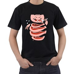Stupid Gluttonous Self Eating Pig Men s T Shirt (black) (two Sided) by CreaturesStore