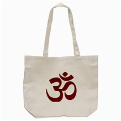 Hindu Om Symbol (dark Red) Tote Bag (cream) by abbeyz71