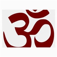 Hindu Om Symbol (dark Red) Large Glasses Cloth (2 Side)