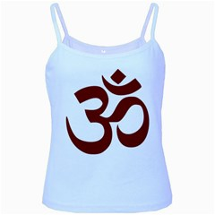 Hindu Om Symbol (dark Red) Baby Blue Spaghetti Tank by abbeyz71