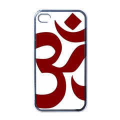 Hindu Om Symbol (dark Red) Apple Iphone 4 Case (black) by abbeyz71