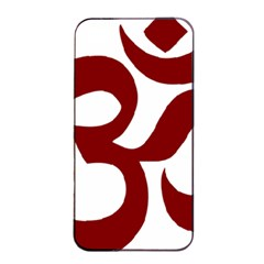 Hindu Om Symbol (dark Red) Apple Iphone 4/4s Seamless Case (black) by abbeyz71