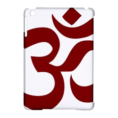 Hindu Om Symbol (dark Red) Apple Ipad Mini Hardshell Case (compatible With Smart Cover) by abbeyz71