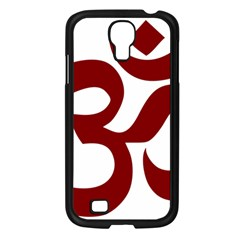 Hindu Om Symbol (dark Red) Samsung Galaxy S4 I9500/ I9505 Case (black) by abbeyz71