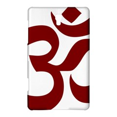 Hindu Om Symbol (dark Red) Samsung Galaxy Tab S (8 4 ) Hardshell Case  by abbeyz71