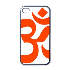 Hindu Om Symbol (orange) Apple Iphone 4 Case (black) by abbeyz71