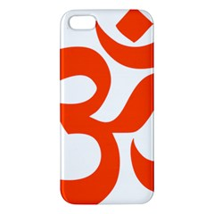 Hindu Om Symbol (orange) Apple Iphone 5 Premium Hardshell Case by abbeyz71