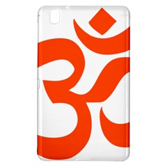 Hindu Om Symbol (orange) Samsung Galaxy Tab Pro 8 4 Hardshell Case by abbeyz71