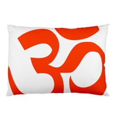 Hindu Om Symbol (orange) Pillow Case by abbeyz71