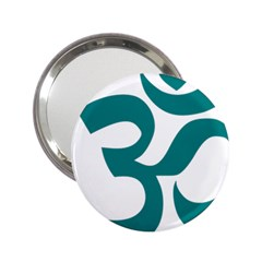 Hindu Om Symbol (teal)  2 25  Handbag Mirrors by abbeyz71