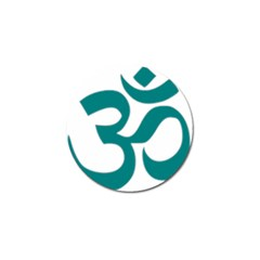 Hindu Om Symbol (teal)  Golf Ball Marker (4 Pack) by abbeyz71