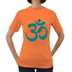 Hindu Om Symbol (teal)  Women s Dark T Shirt by abbeyz71