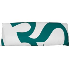 Hindu Om Symbol (teal)  Body Pillow Case (dakimakura) by abbeyz71