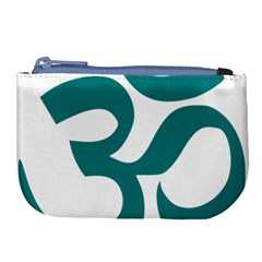 Hindu Om Symbol (teal)  Large Coin Purse