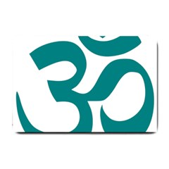 Hindu Om Symbol (teal) Small Doormat  by abbeyz71