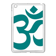 Hindu Om Symbol (teal) Apple Ipad Mini Case (white) by abbeyz71