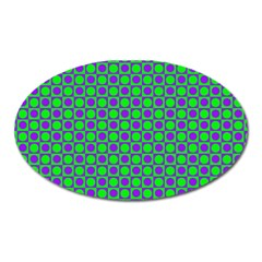 Friendly Retro Pattern A Oval Magnet
