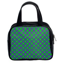 Friendly Retro Pattern A Classic Handbags (2 Sides) by MoreColorsinLife