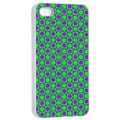 Friendly Retro Pattern A Apple Iphone 4/4s Seamless Case (white) by MoreColorsinLife