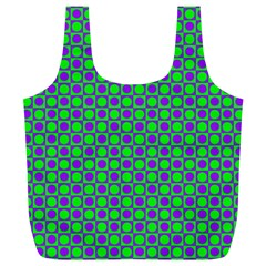 Friendly Retro Pattern A Full Print Recycle Bags (l)  by MoreColorsinLife