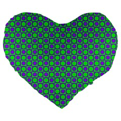 Friendly Retro Pattern A Large 19  Premium Flano Heart Shape Cushions by MoreColorsinLife