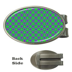 Friendly Retro Pattern A Money Clips (oval)