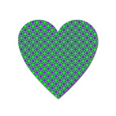 Friendly Retro Pattern A Heart Magnet by MoreColorsinLife