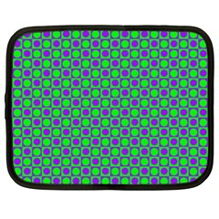 Friendly Retro Pattern A Netbook Case (xxl)  by MoreColorsinLife