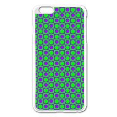 Friendly Retro Pattern A Apple Iphone 6 Plus/6s Plus Enamel White Case by MoreColorsinLife